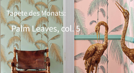 Unsere Tapete des Monats August 2018, Cole and Son, Palm Leaves, col. 5