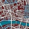 Tapeten: endless london, braun
