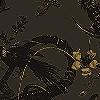Tapeten: Iguana, bronze&gold on brown