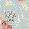 Tapeten: Foxy Flowers, col.01
