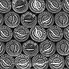 Tapeten: Caviar Bordüre black & white