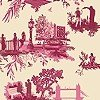 Tapeten: London Toile, red&pink on cream