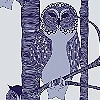 Tapeten: The Owls, plum