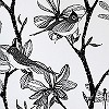 Tapeten: The English Garden, silver