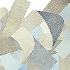 Tapeten: Curly, blue & gray