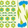 Tapeten: Blumenbordüre, col.03