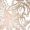 Tapeten: Hothouse copper-rose/white