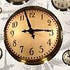 Tapeten: Floating Clocks, col.09