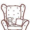 Tapeten: Meine kleine Wohnküche, Sessel