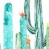 Tapeten: cactus painting