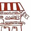 Tapeten: Mein kleiner Kaufladen, Komplett-Motiv