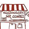 Tapeten: Mein kleiner Kaufladen, Ladentisch