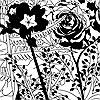 Tapeten: English Garden, bw