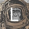 Tapeten: Space Monkey, L