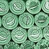 Tapeten: Caviar L, green