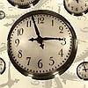 Tapeten: Floating Clocks, col.01