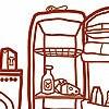 Tapeten: Meine kleine Wohnküche, Komplett-Motiv
