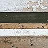 Tapeten: Holzstücktapete, Schwarz-Weiss