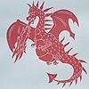 Tapeten: Ere-be-Dragons, red