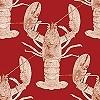Tapeten: Lobster, red, One Stripe