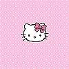 Tapeten: Hello Kitty Pink Polka Dots