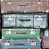 Tapeten: Vintage Koffer