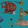 Tapeten: Sous La Mer, blue