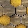 Tapeten: Woodcomb Olive