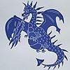 Tapeten: Ere-be-Dragons, blue