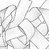 Tapeten: Curly, black & white