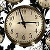 Tapeten: Floating Clocks Big, col.02