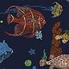 Tapeten: Sous La Mer, navy blue