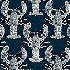 Tapeten: Lobster, dark blue