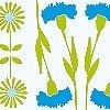 Tapeten: Blumenbordüre, col.02