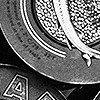 Tapeten: Caviar S, schwarz/weiß