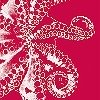 Tapeten: Octopus, rosso