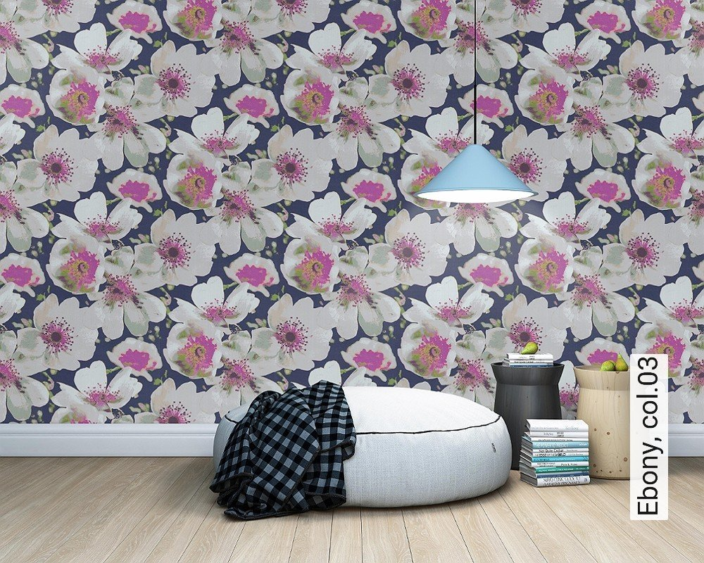 tapete ebony die tapetenagentur. Black Bedroom Furniture Sets. Home Design Ideas