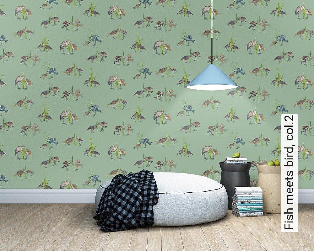tapete fish meets bird col 2 anna berberyan lenk die tapetenagentur. Black Bedroom Furniture Sets. Home Design Ideas