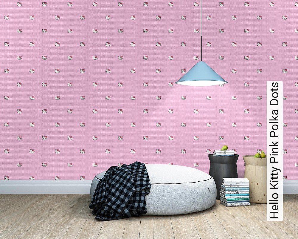 Kindertapeten Hello Kitty : Tapete Hello Kitty Pink Polka Dots Die TapetenAgentur