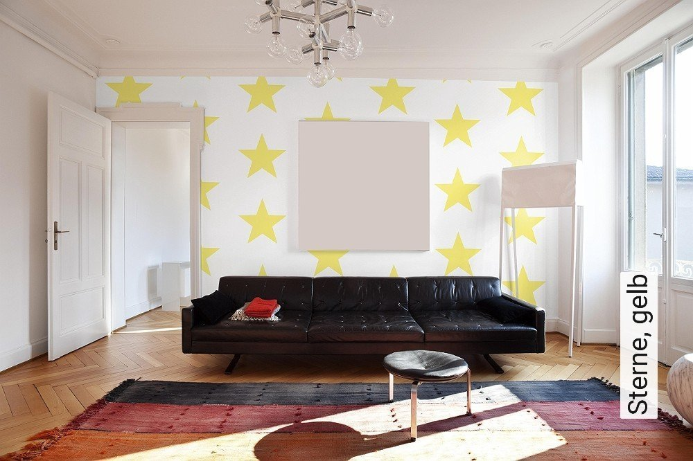 Awesome Tapeten Wohnzimmer Gelb Pictures - Ideas & Design ...