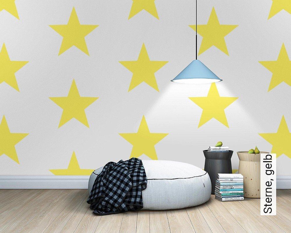 Tapete sterne gelb die tapetenagentur - Sterne tapete kinderzimmer ...