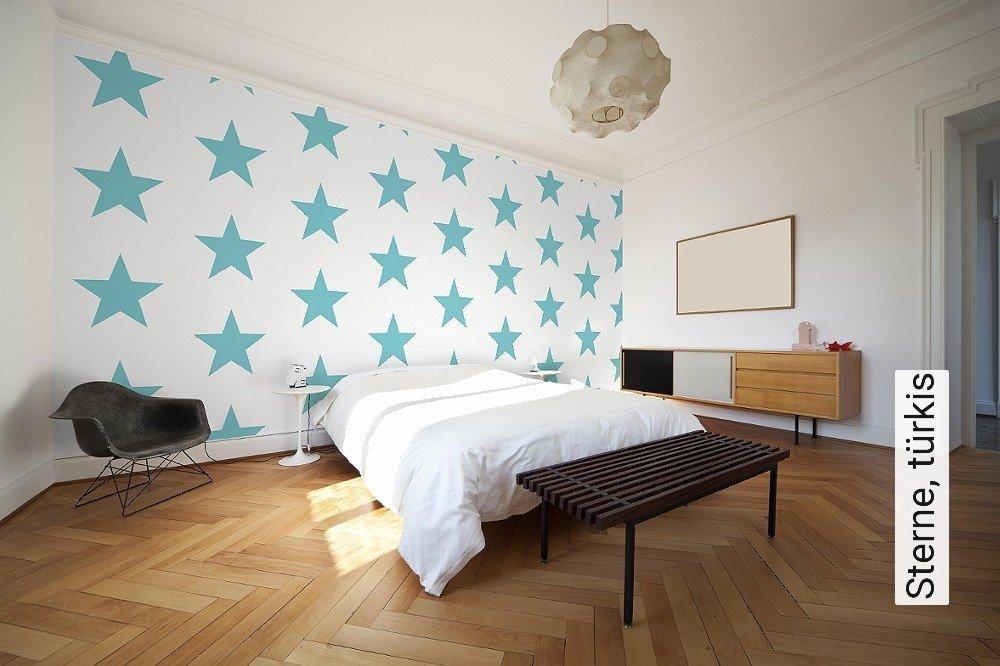 tapete sterne t rkis die tapetenagentur. Black Bedroom Furniture Sets. Home Design Ideas