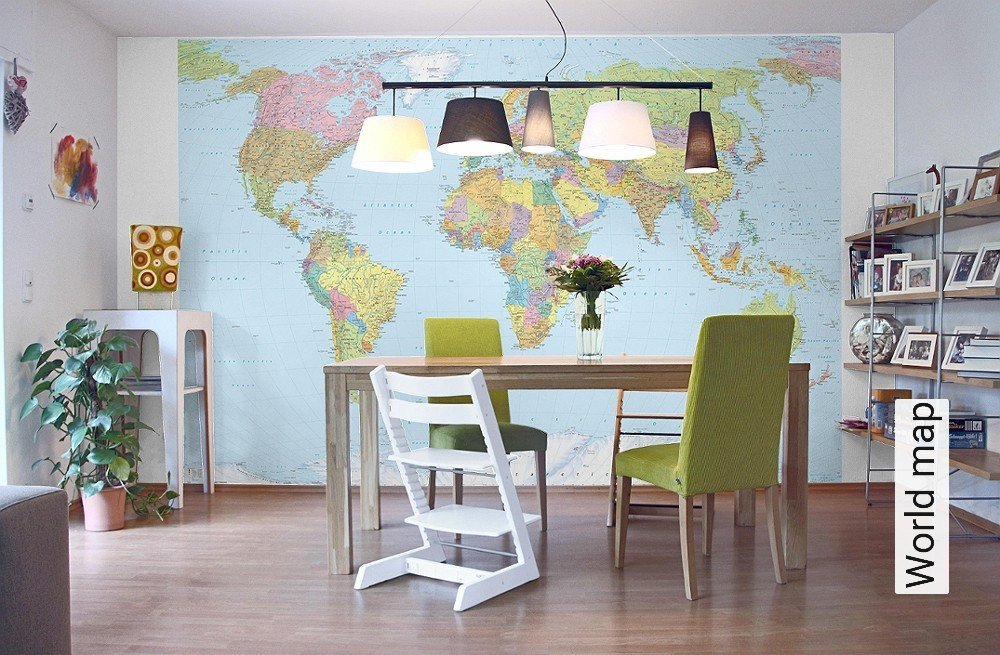 tapete world map die tapetenagentur. Black Bedroom Furniture Sets. Home Design Ideas