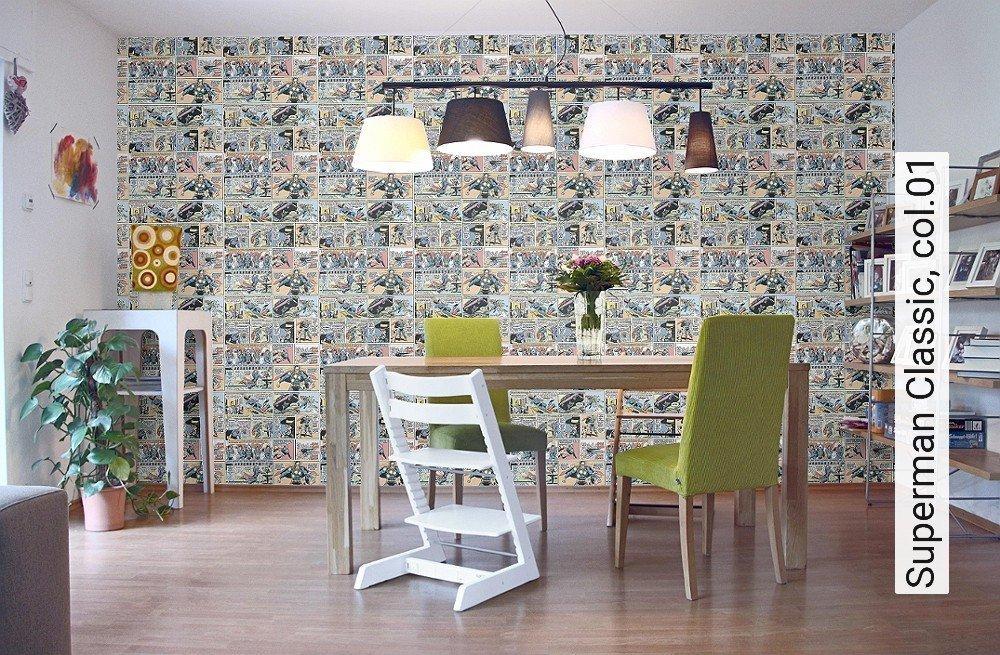 tapeten superman classic. Black Bedroom Furniture Sets. Home Design Ideas