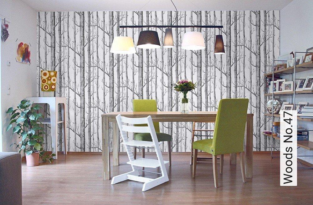 tapeten woods. Black Bedroom Furniture Sets. Home Design Ideas