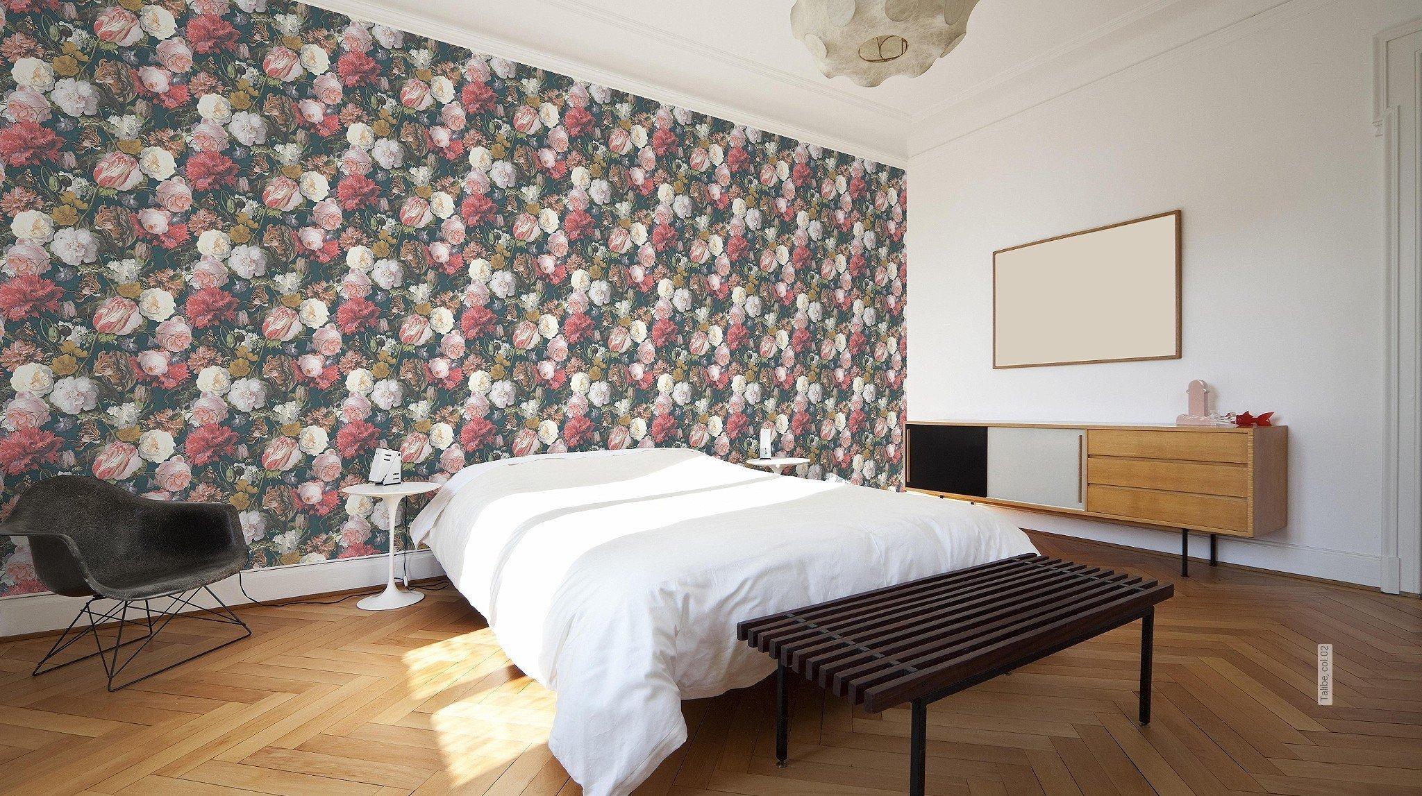 florale muster tapeten mit dem besonderen die. Black Bedroom Furniture Sets. Home Design Ideas