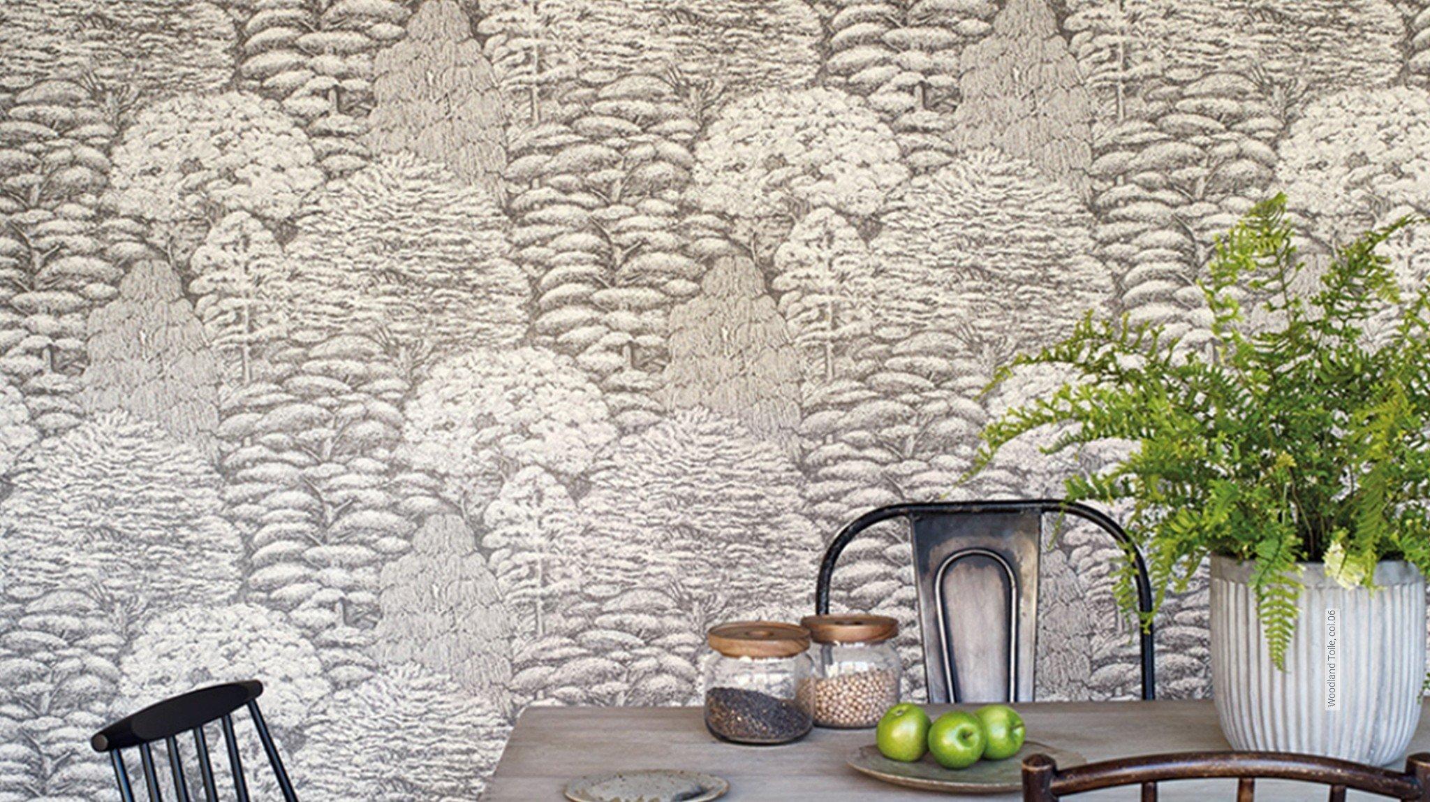 florale muster toile de jouy tapeten lust auf was neues. Black Bedroom Furniture Sets. Home Design Ideas