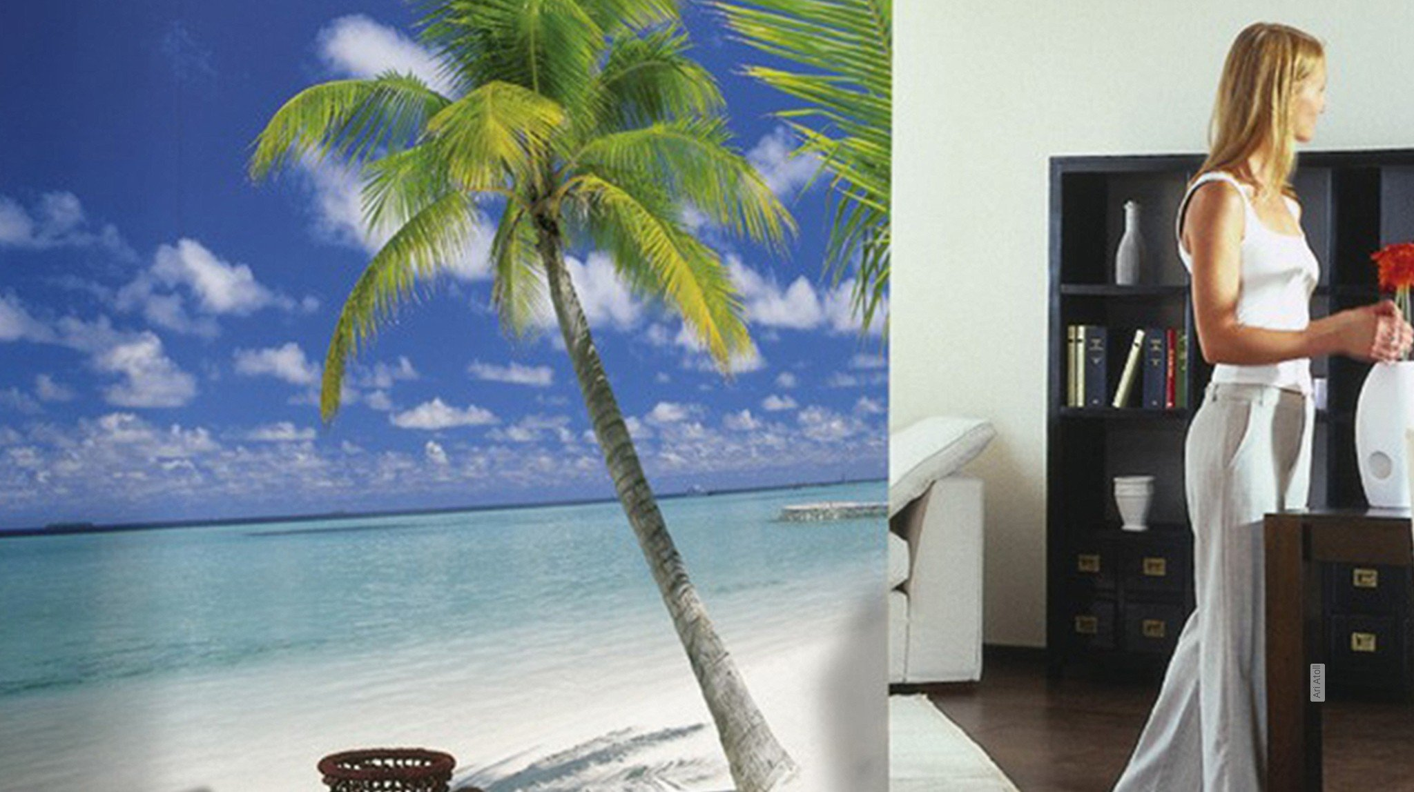 florale muster strand tapeten lust auf was neues. Black Bedroom Furniture Sets. Home Design Ideas