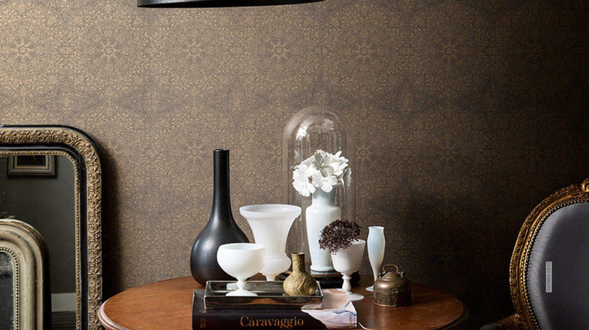 gold paisley tapeten lust auf was neues. Black Bedroom Furniture Sets. Home Design Ideas