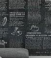 3Komplett-Set-Sapori-Text-Moderne-Muster-FotoTapeten-Grau-Schwarz-Weiß